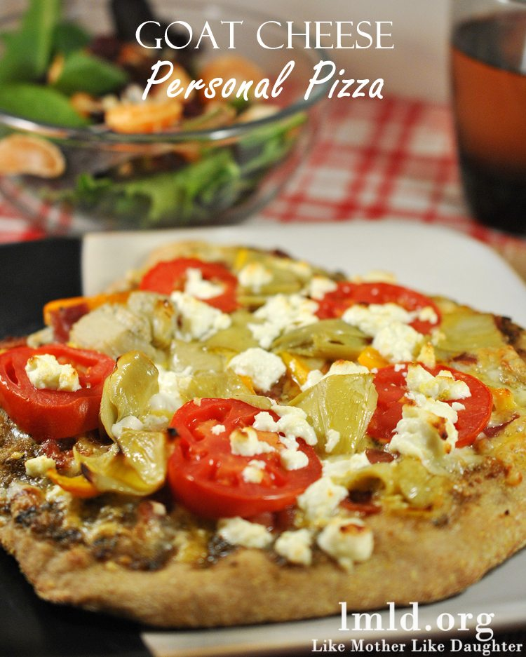 Goat Cheese Personal Pizza - Like Mother Like Daughter