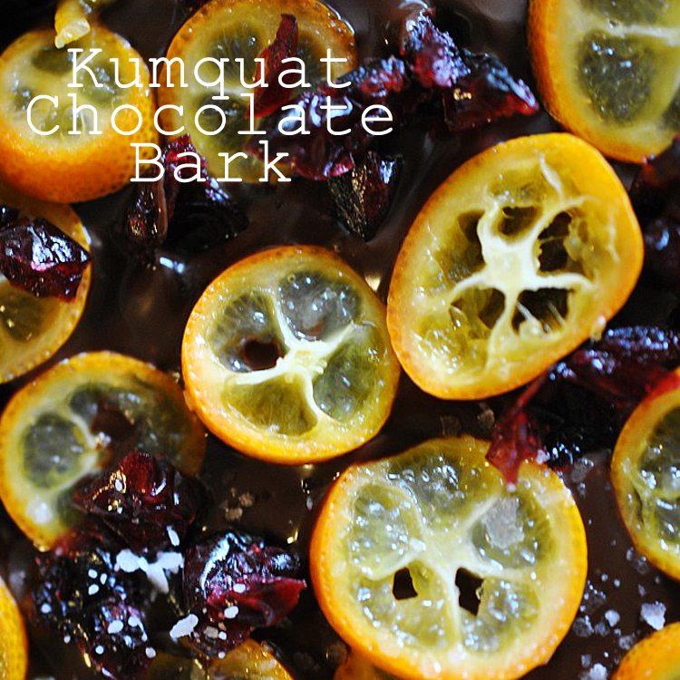 Kumquat Chocolate Bark