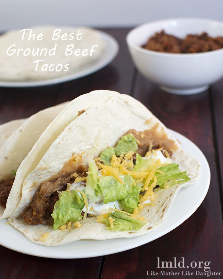 Easy Ground Beef Taco Salad Recipe: Like Mother Like Daughter