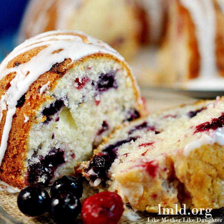 Triple Berry Lemon Bundt Cake
