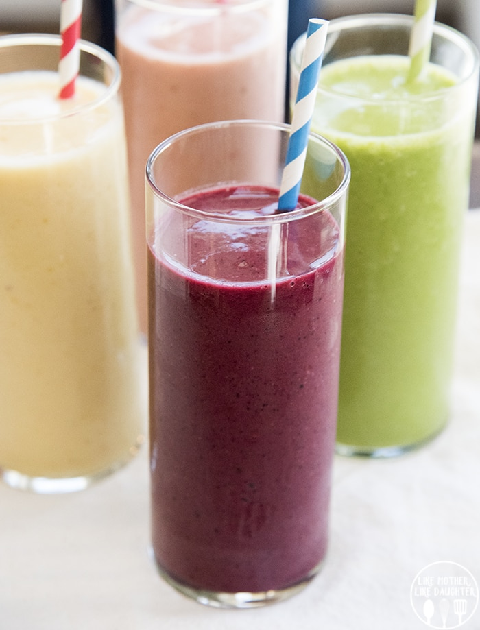 Smoothie Recipes with Frozen Fruit for a perfect healthier snack!