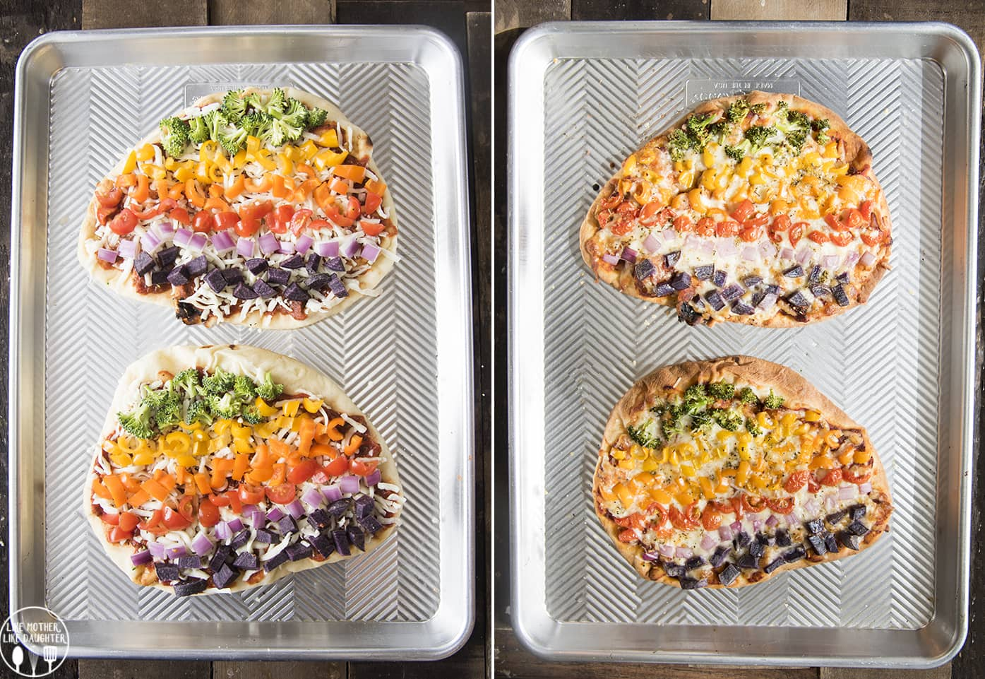 Rainbow Pizza with vegetables
