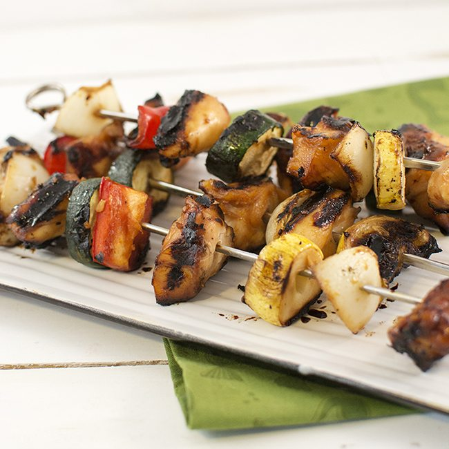 Teriyaki Chicken and Vegetable Kebabs