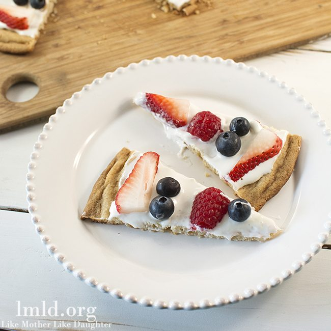 Red White and Blue Fruit Pizza