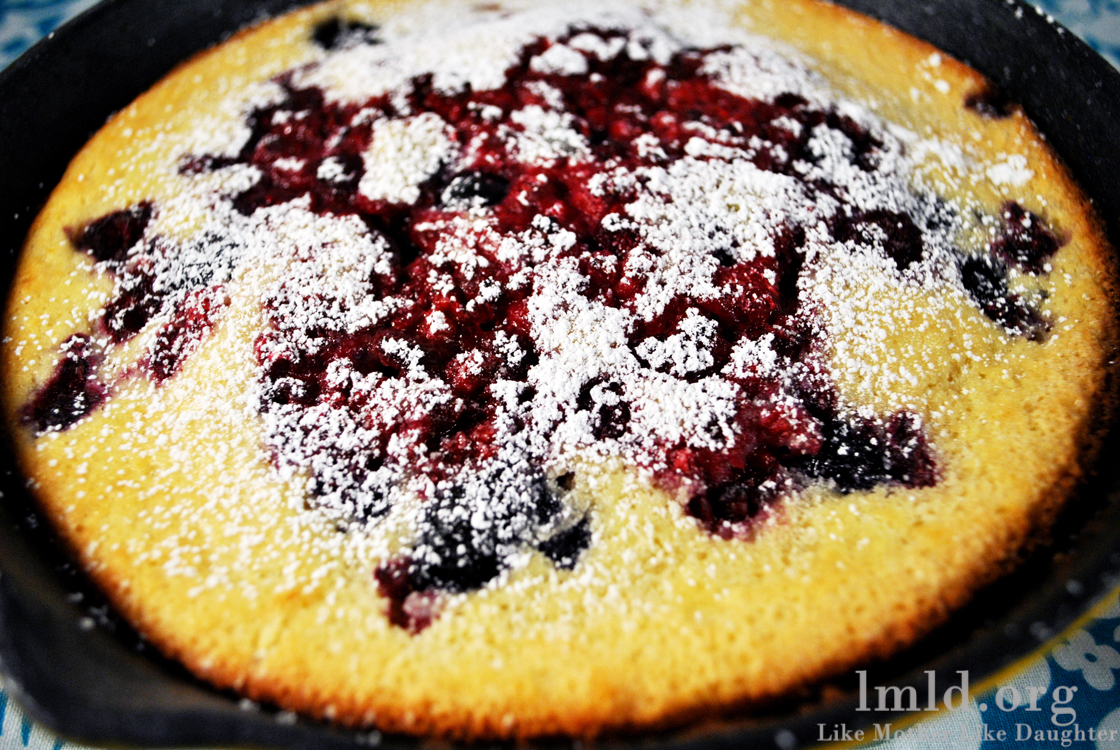 Oven Baked Pancake With Berries Like Mother Like Daughter