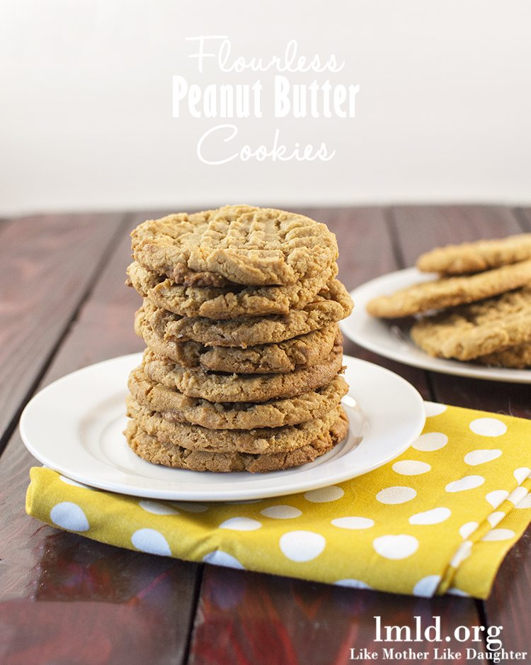 Flourless Peanut Butter Cookies - Like Mother Like Daughter