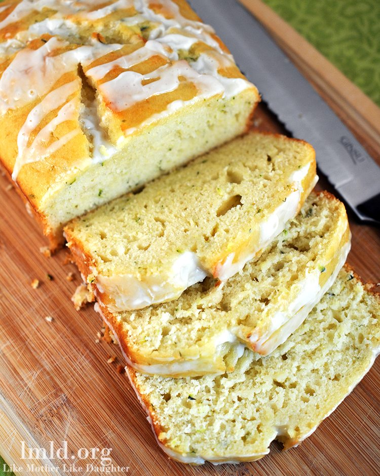 Enjoy this delicious and moist lemony zucchini bread!