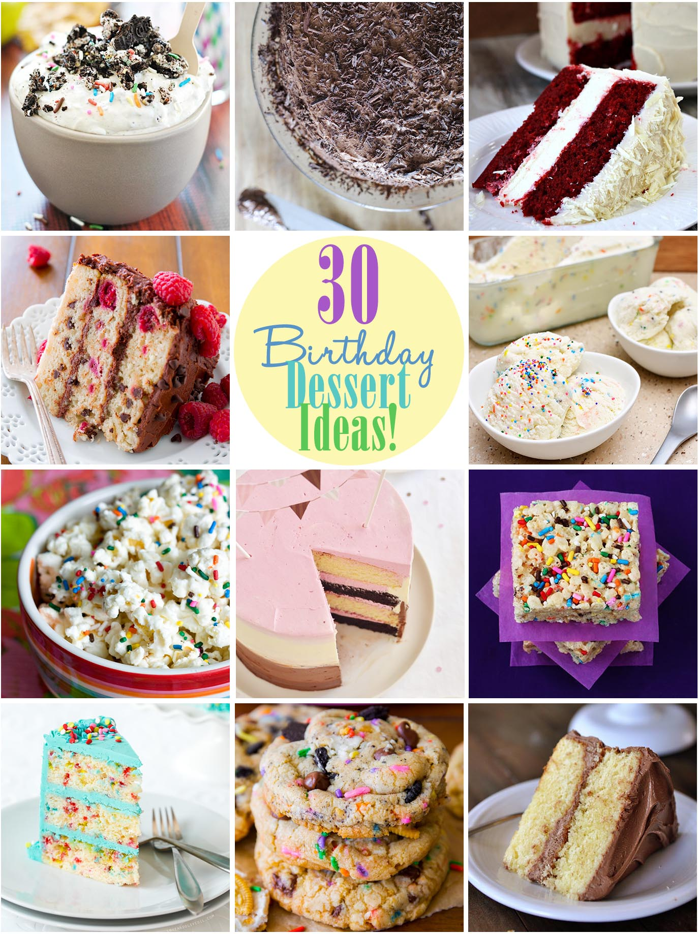 30 Birthday Dessert Ideas