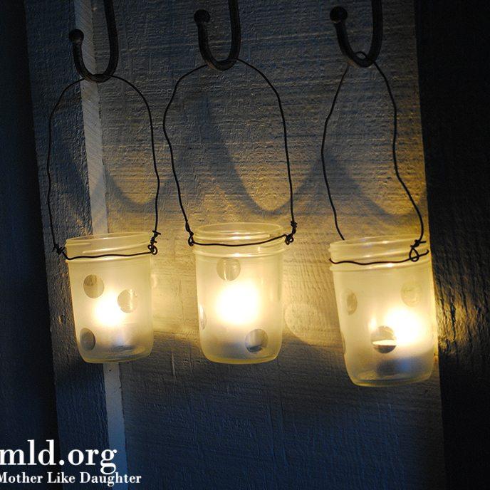 DIY – decorated mason jars
