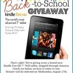 Back to School Kindle Fire Giveaway