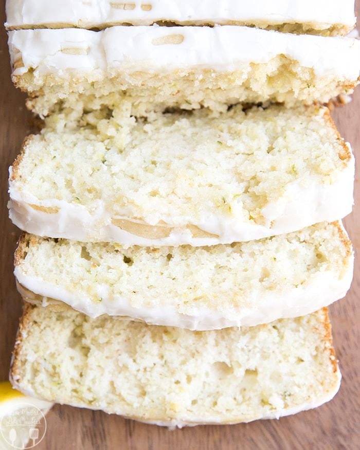 Lemon Zucchini Bread with a tangy lemon glaze