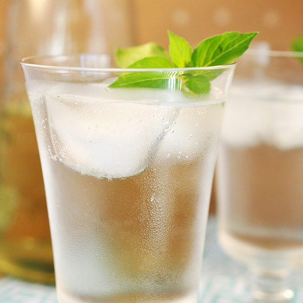 Lemon Basil Infused Soda