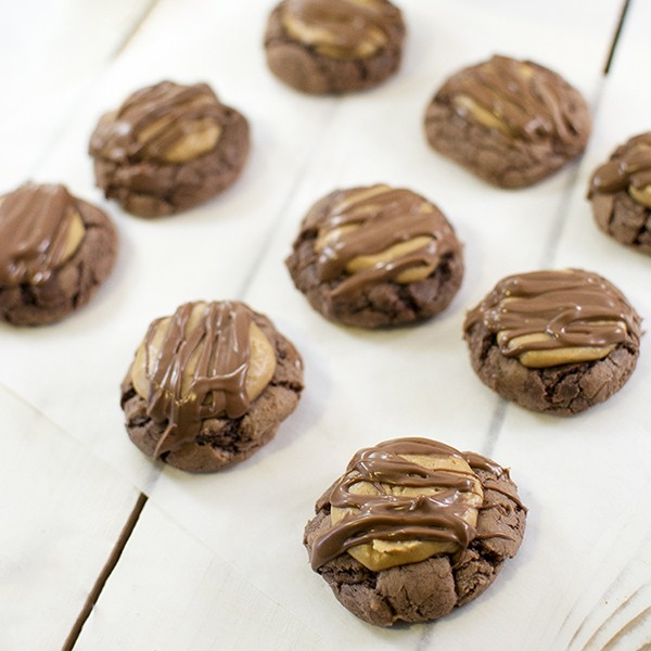 Buckeye Brownie Cookies