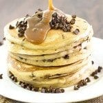 peanut butter chocolate chip pancakes4square