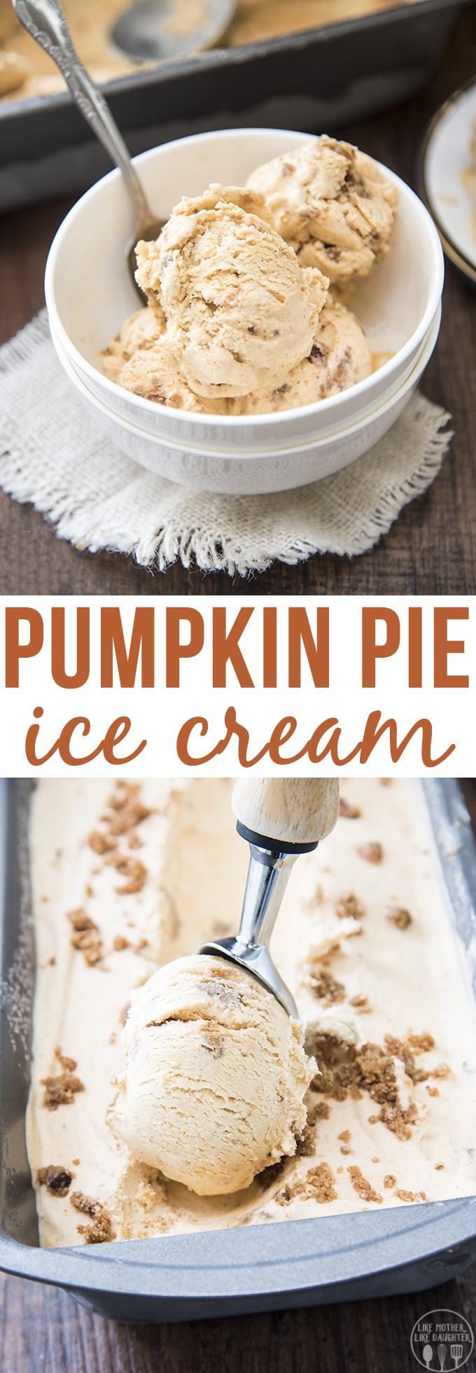 Pumpkin ice cream tastes just like a slice pumpkin pie topped with whipped cream, and there is no ice cream maker required, its creamy, perfectly spiced, and so delicious you'll want to have this ice cream for Thanksgiving and all year long.