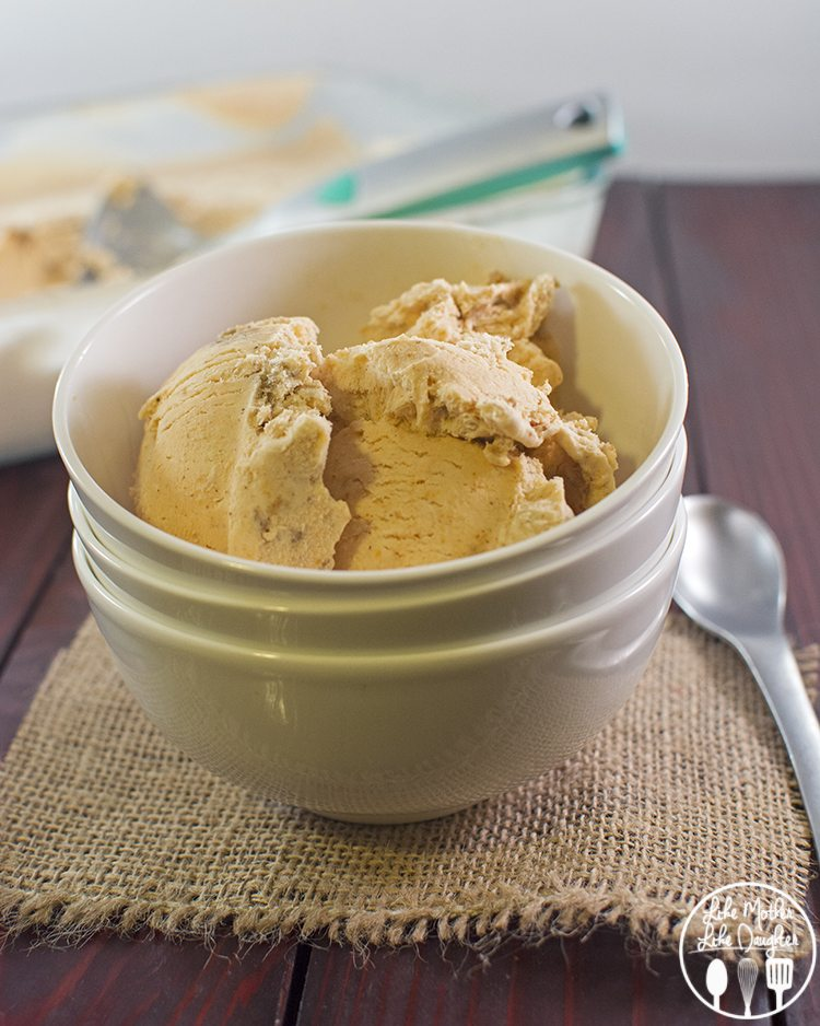 Pumpkin Pie Ice Cream - Like Mother Like Daughter