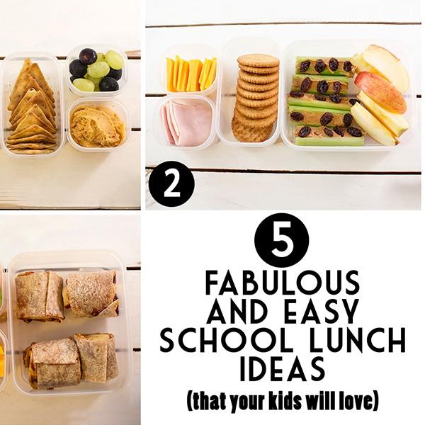 5 School Lunch Ideas