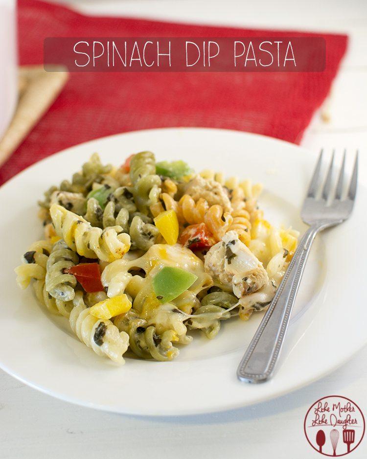 spinach dip pasta 2