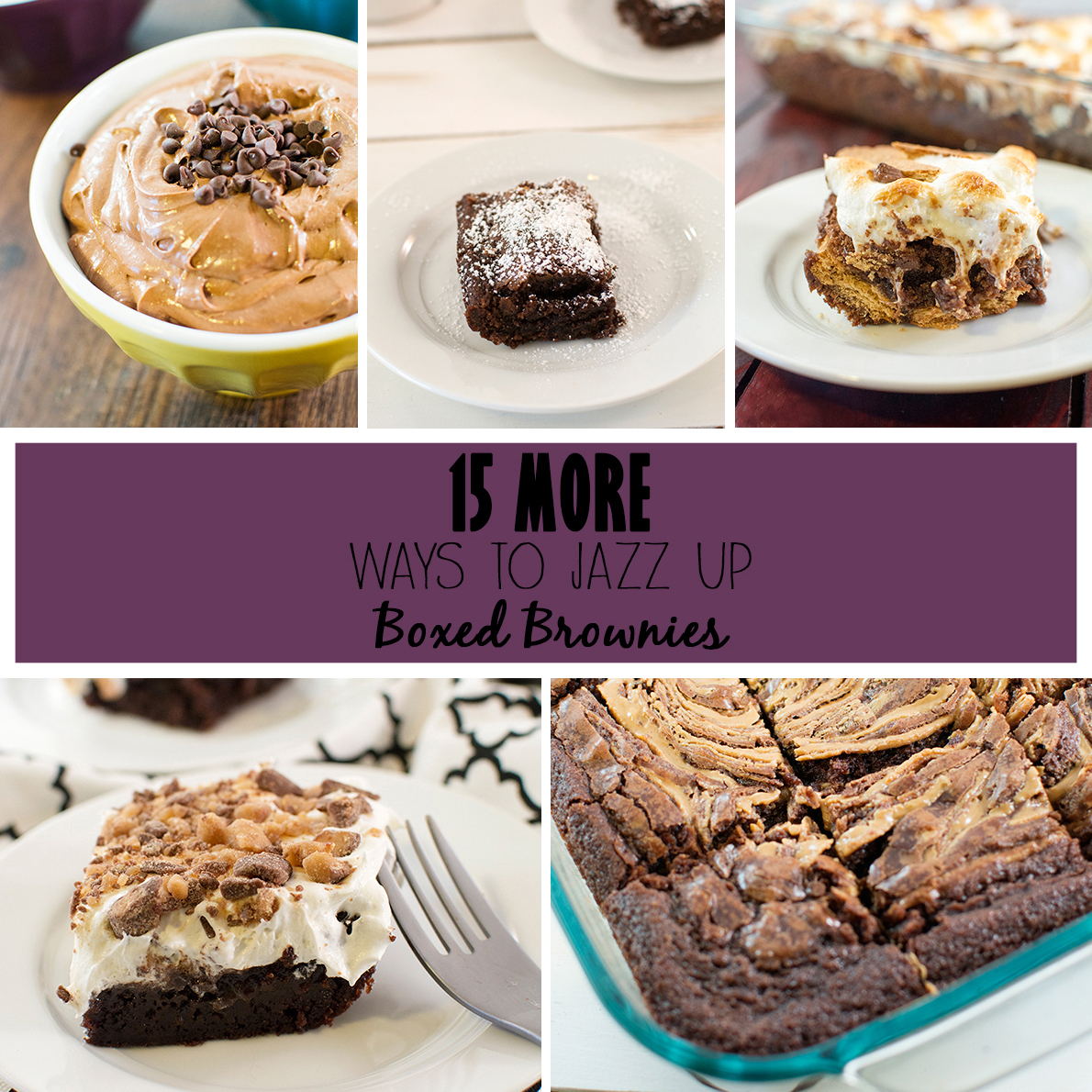 15 MORE ways to jazz up boxed brownies