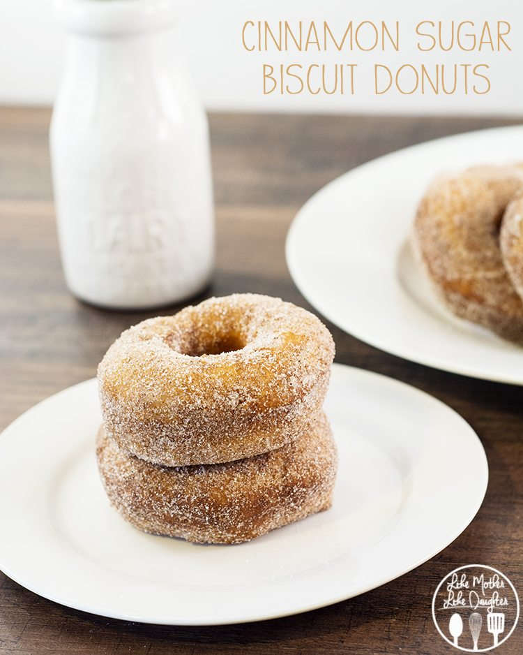 Cinnamon Sugar Biscuit Donuts - when you're eating these delicious ...