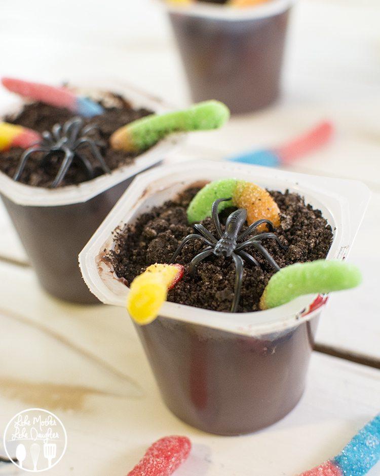 creepy crawly pudding