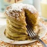 Gluten Free Eggnog Pancakes