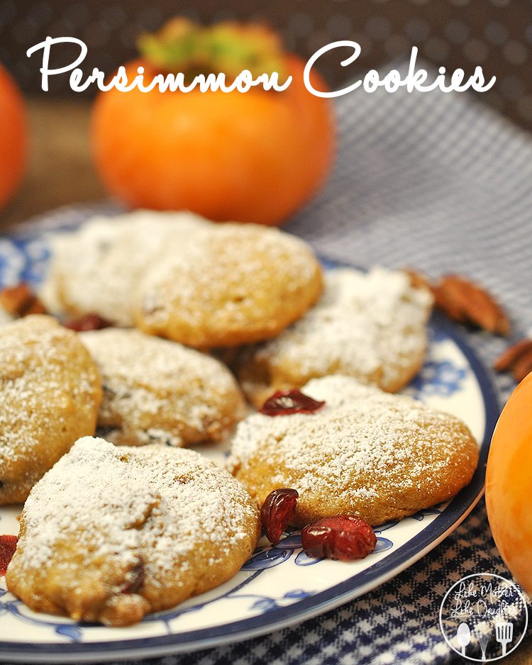 Persimmon Cookies - These persimmon cookies are soft, moist and delicious!