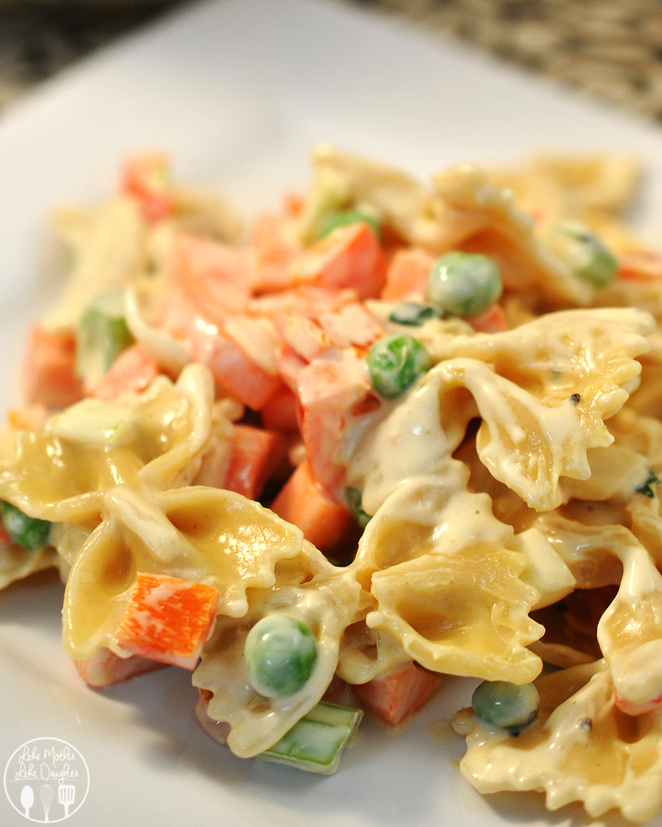 Vegetable Pasta Salad - This simple pasta salad has a tasty mustard and mayo dressing for a delicious dish. Perfect for parties.