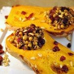 Wild Rice Stuffed Roasted Butternut