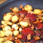 Skillet Beets, Potatoes, and Chestnut will give your taste buds an am