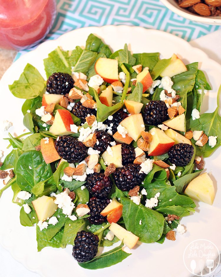 Blackberry Apple Salad with Blackberry Vinaigrette - this gorgeous and ...