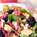 Blackberry Apple Salad with Blackberry Vinaigrette