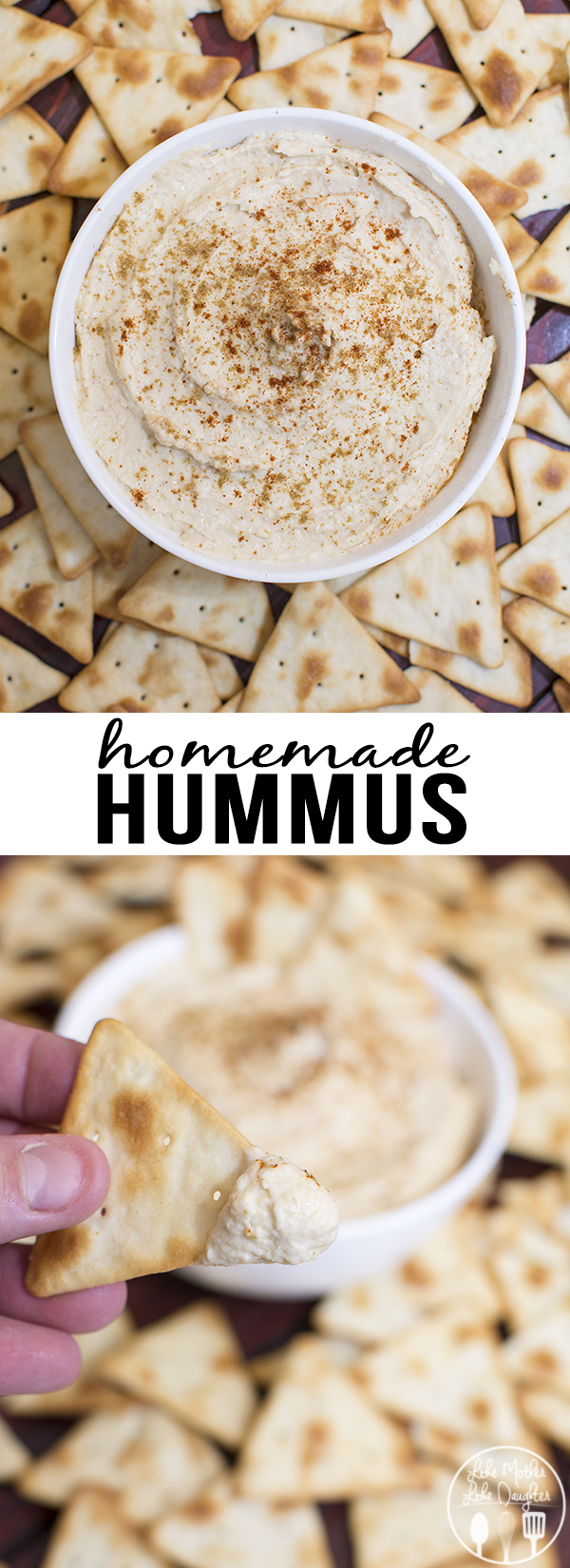 Homemade hummus is much better than store bought, it has just the right flavor, is perfectly creamy, is ready in 5 minutes, and is a great healthier snack with crackers or vegetables.