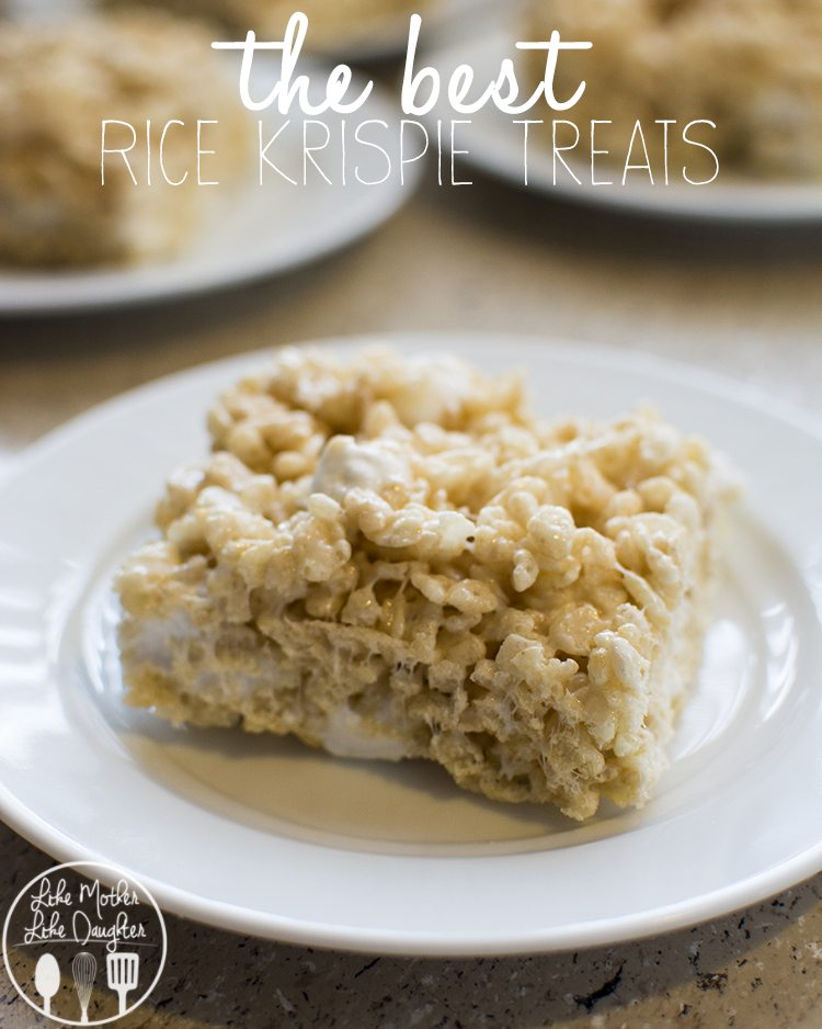 Rice krispie treats like mother like daughter the best rice krispy treats these are the best rice krispie treats because they are ccuart Choice Image