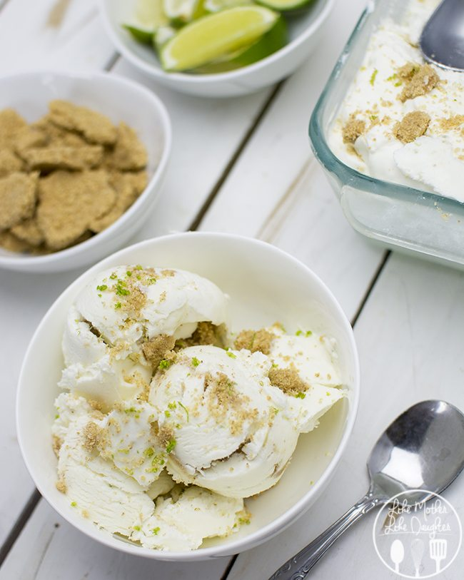 ... key lime pie but in ice cream form, and who doesn't love ice cream