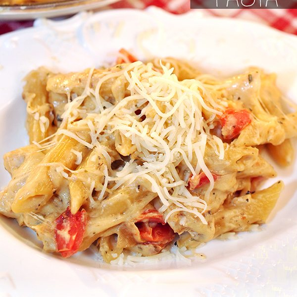 One Pan Cheesy Chicken Pasta
