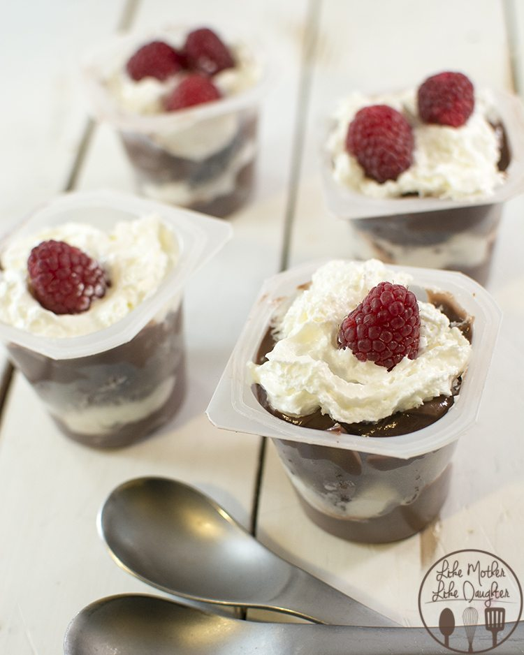 Pudding Cup Brownie Trifles - These simple and delicious pudding cup brownie trifles are a perfect elegant chocolate dessert!