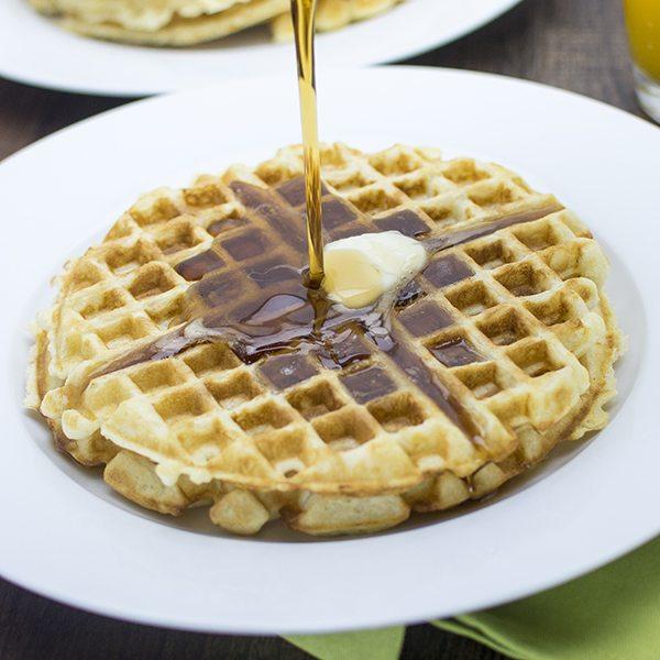 Golden Butter Waffles