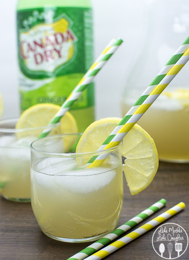 Sparkling Lemonade - This easy to make sparkling lemonade is only 2 ingredients and is the perfect refreshing bubbly drink for any occasion