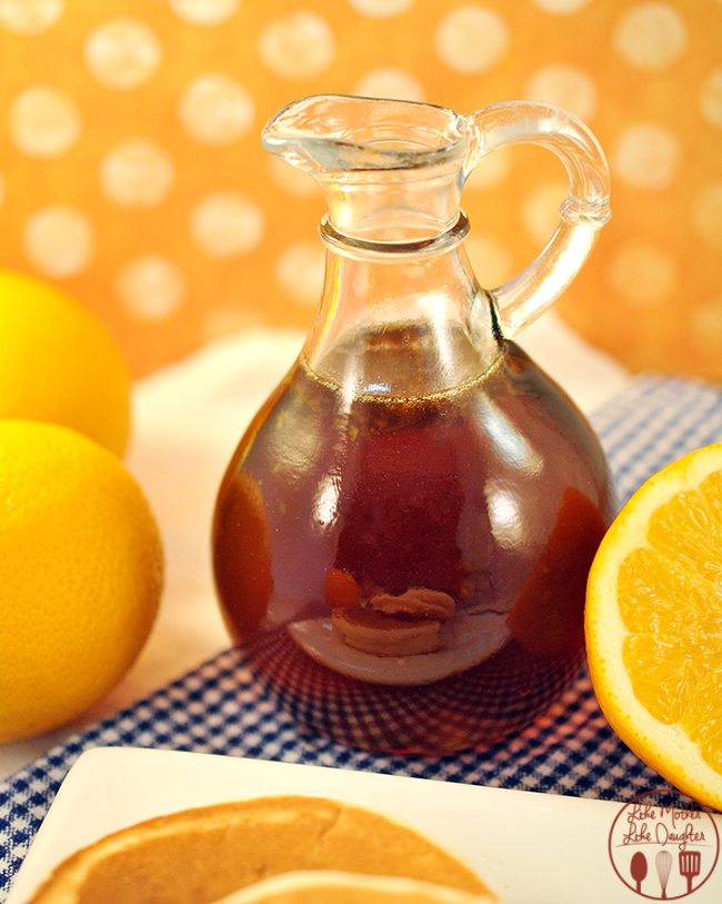 Orange Zest Syrup - Homemade Syrup made with fresh squeezed ..