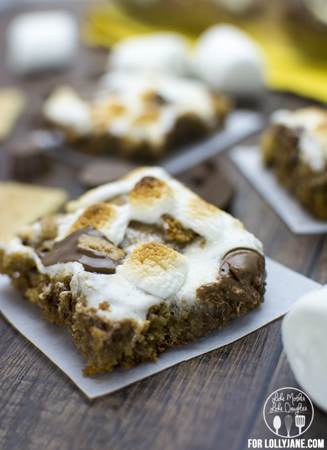 smores peanut butter cookie bars 2