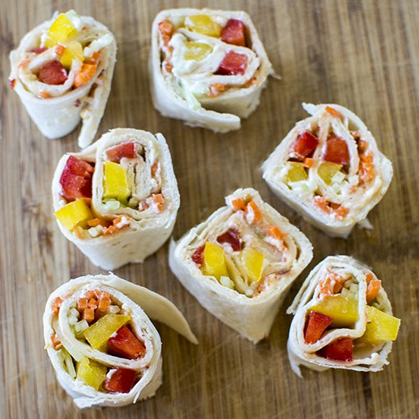 Sweet Chili Veggie Roll Ups