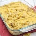burger and fries casserole square