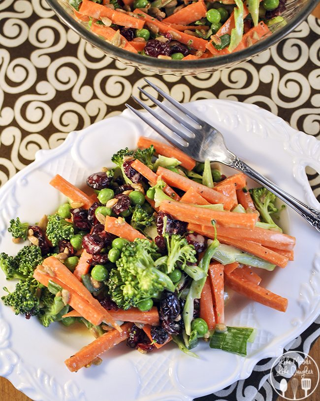 ... Broccoli Crunch Salad - Enjoy this Carrot Broccoli Crunch Salad