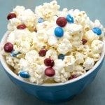 Patriotic White Chocolate Popcorn