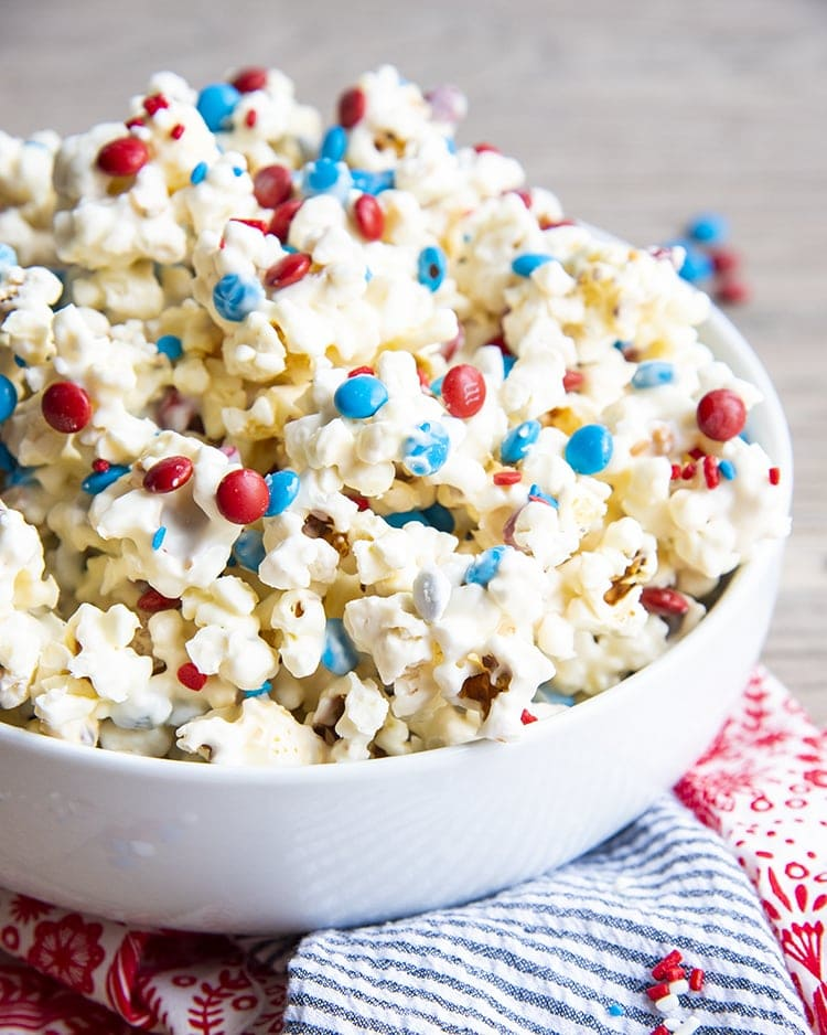 Patriotic White Chocolate with Red White /& Blue Sprinkles