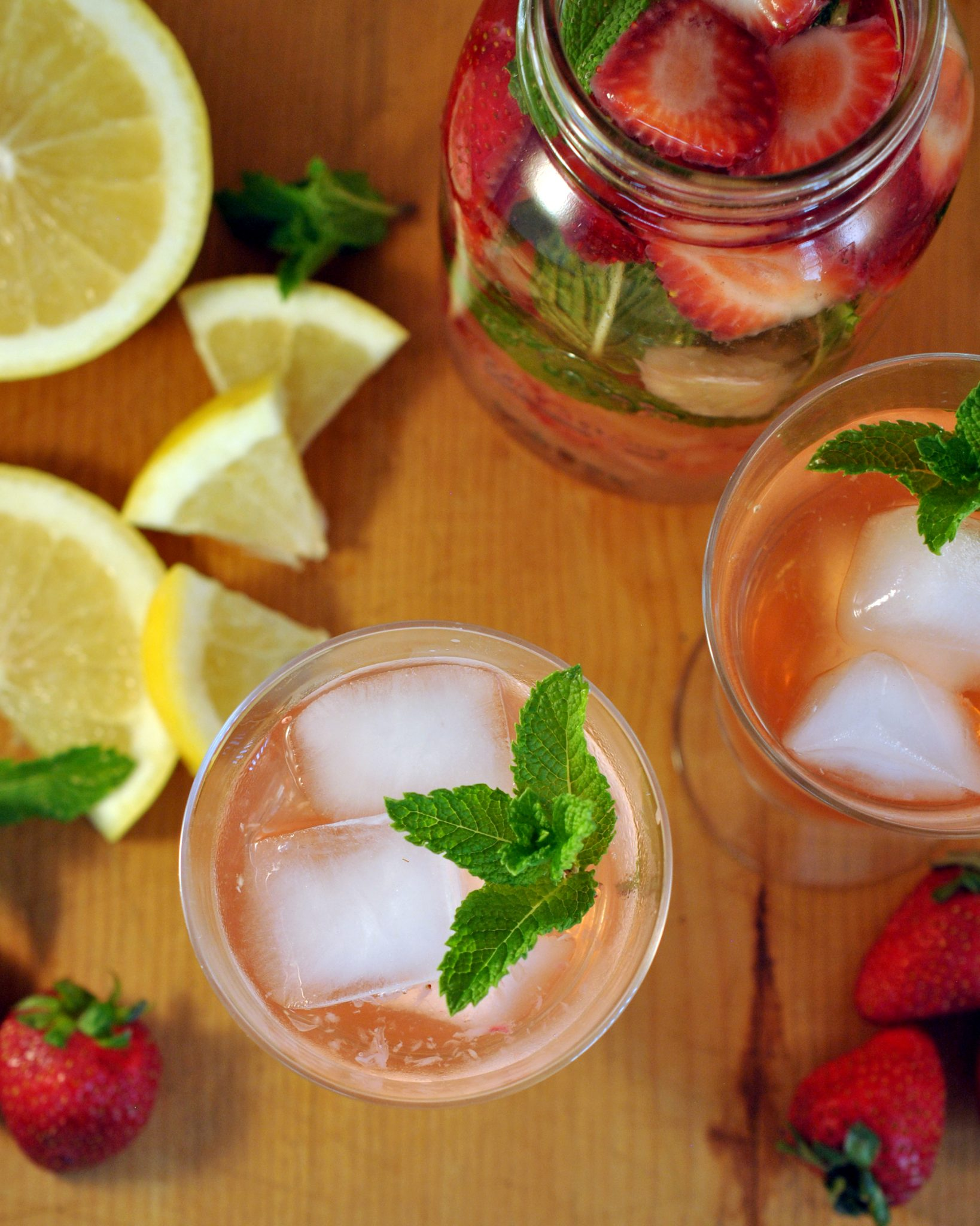 Strawberry Grapefruit Mint Infused Water