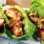 Grilled chicken lettuce wraps are an effortless, healthy, and delicious meal with real chicken, protein blend vegetables, and peanut sauce. So good, easy!