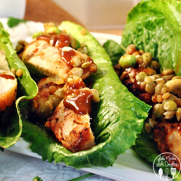 Grilled Chicken Lettuce Wraps