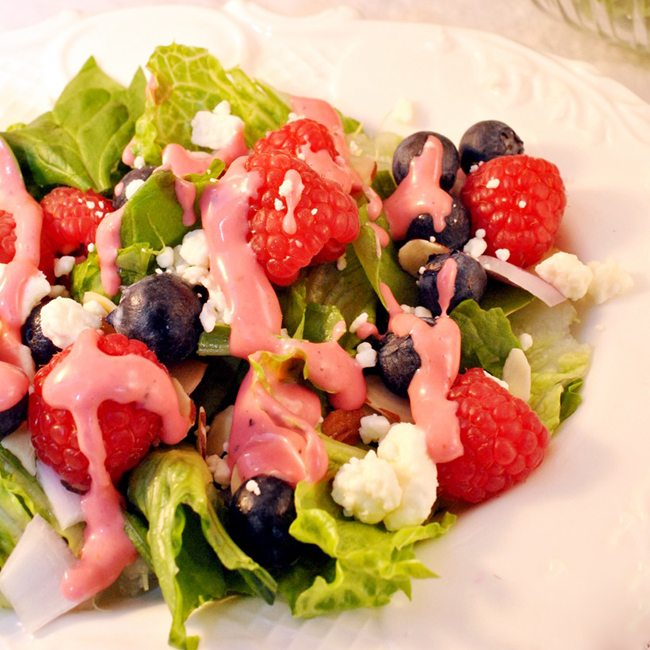 Red, White, and Blue Garden Salad